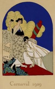 Menu du Carnaval de 1929 à Colmar © BM Dijon M III-1023