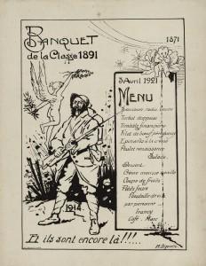 Banquet de la Classe 1891