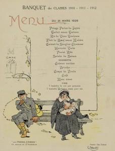 Banquet des Classes 1910-1911-1912. Aux Frères d'Armes.