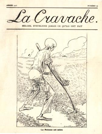 La Mort en Belgique. La Cravache, 1916, n° 10. ©Archives de la Ville de Bruxelles