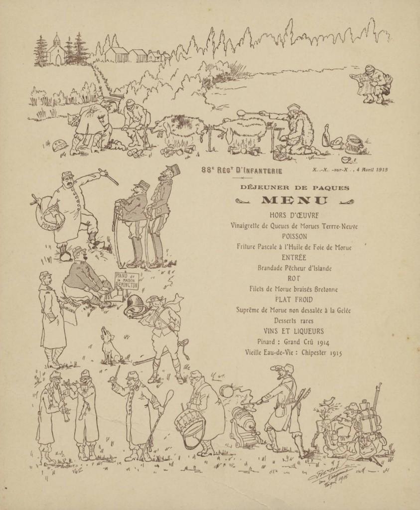 Déjeuner de Pâques du 88e R.I.