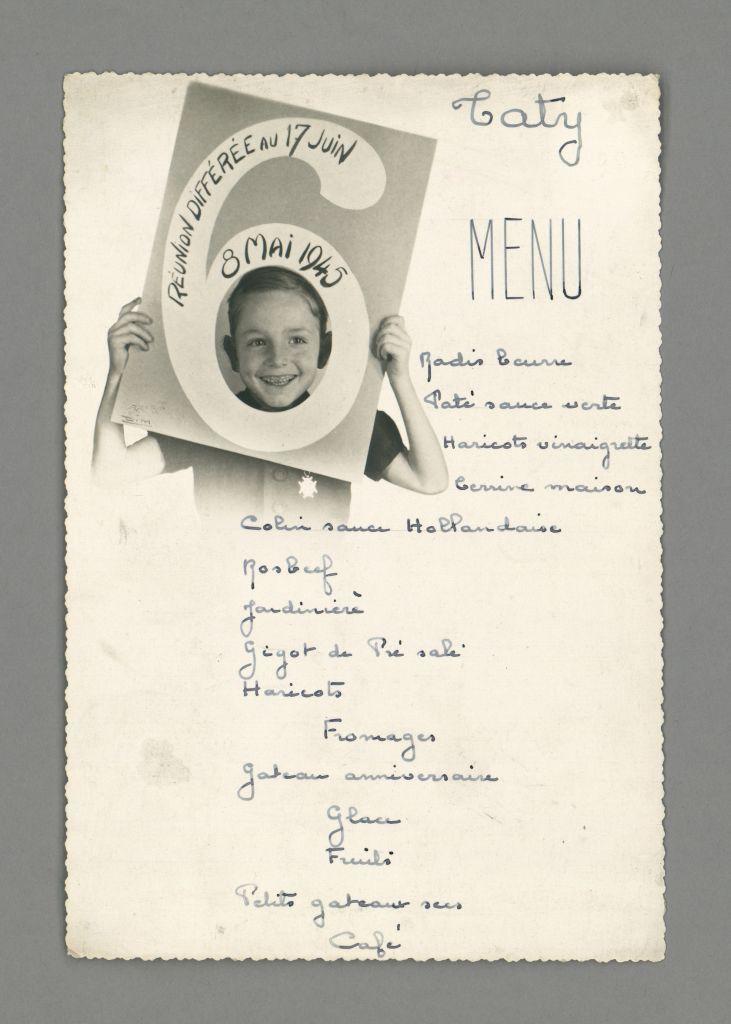 Un menu du 8 mai 1945 quand la grande et la petite histoires se rejoignent happy apicius - Idee repas famille anniversaire ...