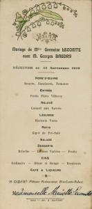 Mariage de Germaine Lecomte et de Georges Baudry. Brie-Comte-Robert