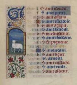 Heures Berbisey, dernier quart du 15e siècle, BMD, cote MS 3765, f° 3 verso (calendrier)