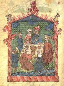 Le Seder de Pessah, Haggada de Erna Michael, Allemagne, vers 1400, musée d'Israël, Jérusalem