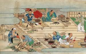 Les merites compares du riz et du sake, Diane de Sielliers-BnF, scene finale