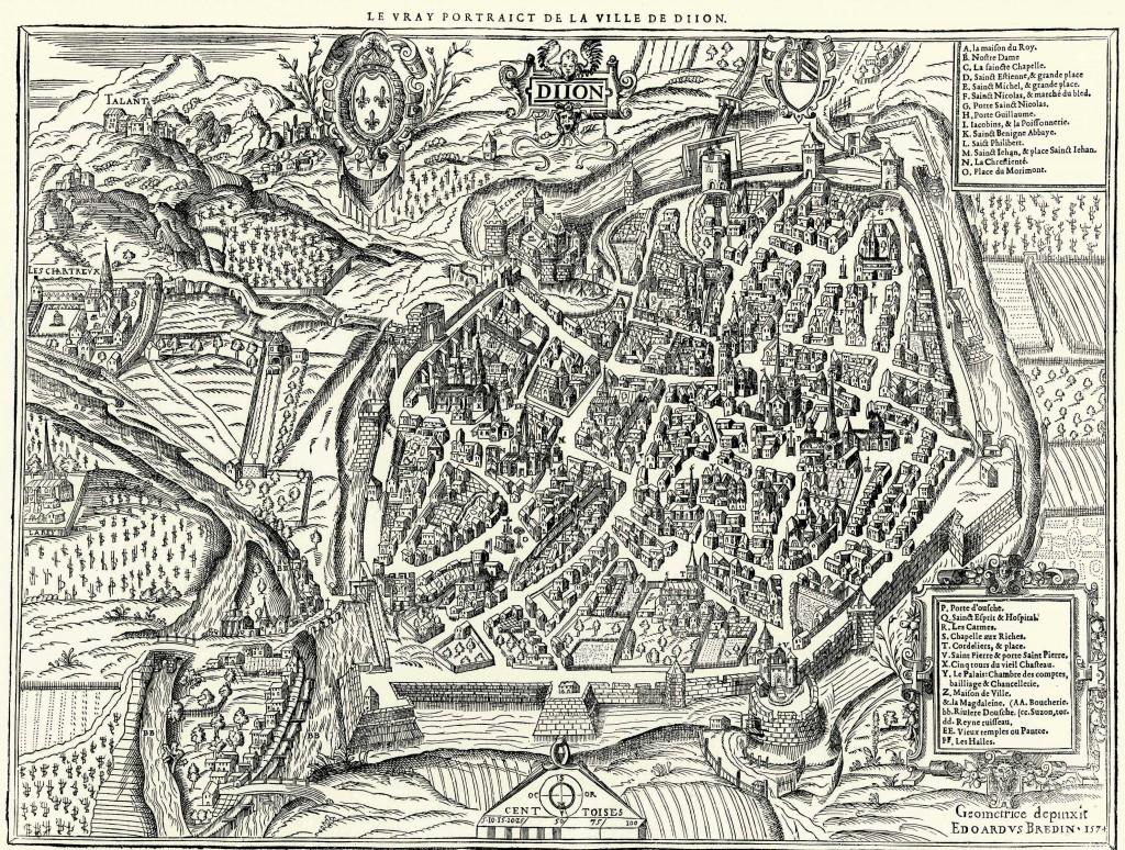 Le vray portraict de la ville de Dijon, Bredin, 1574