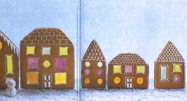 Christmas cupcakes & cookies Snowy houses