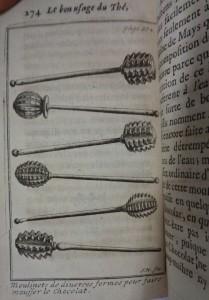 Le bon uasge du thé, 1687, cote 1767 moussoirs