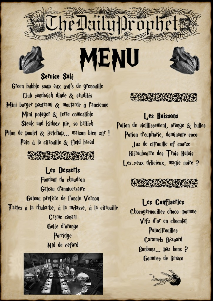 Banquet menu 8 avril 2