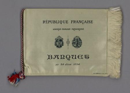 Banquet de l'exposition universelle offert au Président de la République, Sadi Carnot