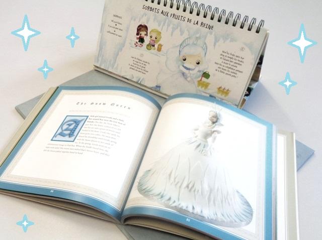2 ouvrages avec des recettes inspirées par l'univers de la Reine des Neiges : la Reine en cake design ou préparant des sorbets aux fruits !